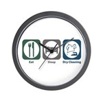 Eat Sleep Dry Cleaning Wall Clock
