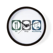 Eat Sleep Dry Cleaning Wall Clock