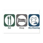 Eat Sleep Dry Cleaning Mini Poster Print