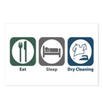 Eat Sleep Dry Cleaning Postcards (Package of 8)