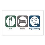 Eat Sleep Dry Cleaning Rectangle Sticker 50 pk)