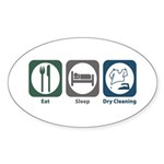 Eat Sleep Dry Cleaning Oval Sticker (10 pk)