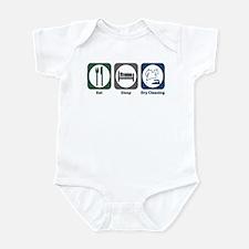 Eat Sleep Dry Cleaning Infant Bodysuit