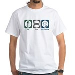 Eat Sleep Dry Cleaning White T-Shirt