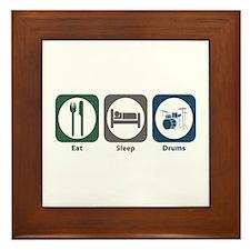 Eat Sleep Drums Framed Tile