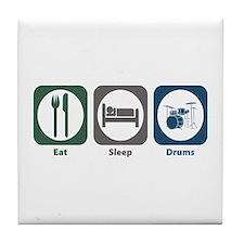 Eat Sleep Drums Tile Coaster