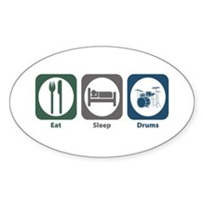 Eat Sleep Drums Oval Decal