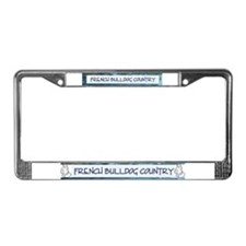 French Bulldog Country License Plate Frame