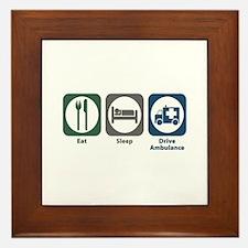 Eat Sleep Drive Ambulance Framed Tile