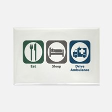 Eat Sleep Drive Ambulance Rectangle Magnet