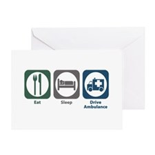 Eat Sleep Drive Ambulance Greeting Card