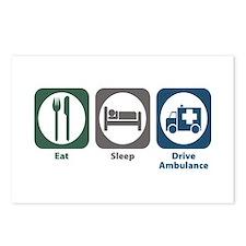 Eat Sleep Drive Ambulance Postcards (Package of 8)