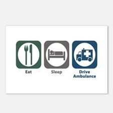 Eat Sleep Drive Ambulance Postcards (Package of 8)