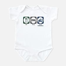 Eat Sleep Drive Ambulance Infant Bodysuit
