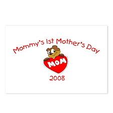 Mommy's 1st Mother's Day 2008 (Bear) Postcards (Pa