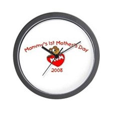 Mommy's 1st Mother's Day 2008 (Bear) Wall Clock