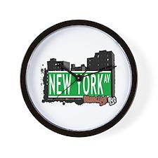 NEW YORK AV, BROOKLYN, NYC Wall Clock