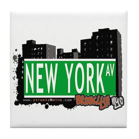NEW YORK AV, BROOKLYN, NYC Tile Coaster