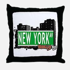 NEW YORK AV, BROOKLYN, NYC Throw Pillow