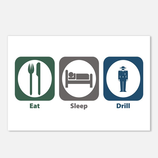 Eat Sleep Drill Postcards (Package of 8)