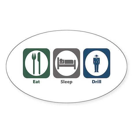 Eat Sleep Drill Oval Sticker (50 pk)