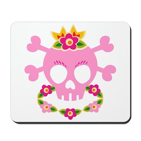 Hawaiian Princess Skull Mousepad