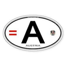 Austria Euro Oval Oval Sticker (10 pk)