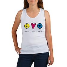 Peace/Love/Soccer Women's Tank Top