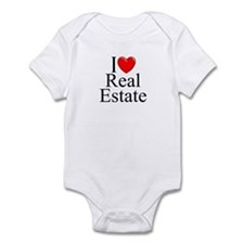 """I Love (Heart) Real Estate"" Infant Bodysuit"