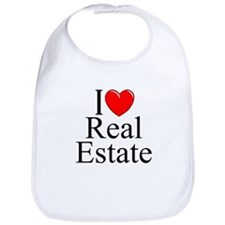 """I Love (Heart) Real Estate"" Bib"