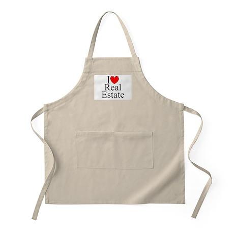 """I Love (Heart) Real Estate"" BBQ Apron"