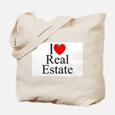 """I Love (Heart) Real Estate"" Tote Bag"
