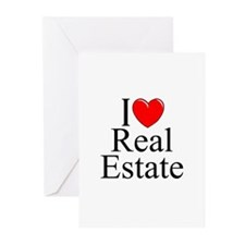 """""""I Love (Heart) Real Estate"""" Greeting Cards (Pk of"""