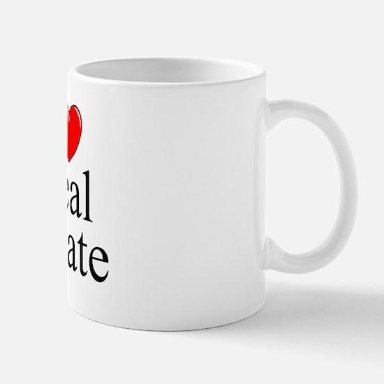"""I Love (Heart) Real Estate"" Mug"
