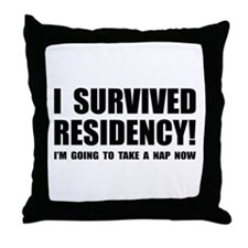 Residency Survivor Throw Pillow