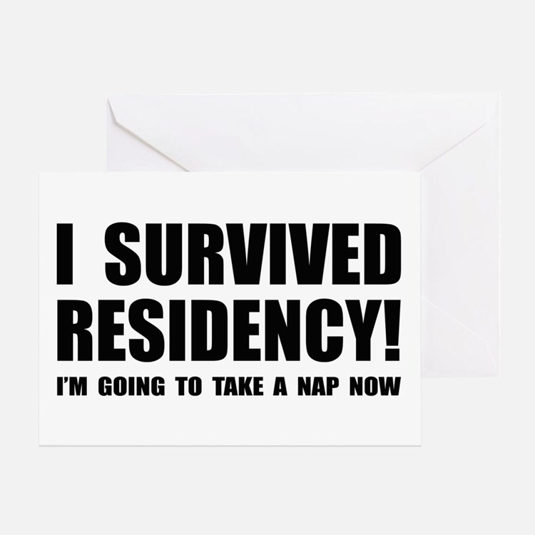 Residency Survivor Greeting Card