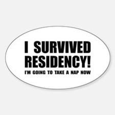Residency Survivor Oval Decal
