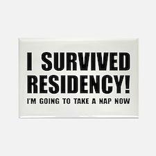 Residency Survivor Rectangle Magnet