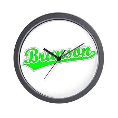 Retro Branson (Green) Wall Clock