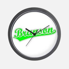 Retro Branson (Green) Wall Clock