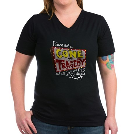 Cone of Tragedy Women's V-Neck Dark T-Shirt