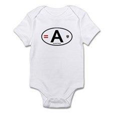 Austria Euro Oval Infant Bodysuit