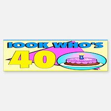 40th Birthday Bumper Bumper Bumper Sticker