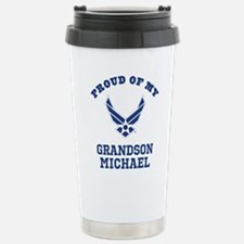 Air Force Grandson Personalized Travel Mug