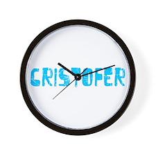 Cristofer Faded (Blue) Wall Clock