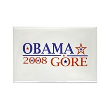 Obama Gore 2008 Rectangle Magnet