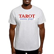 TAROT wanna play? Ash Grey T-Shirt