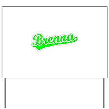 Retro Brenna (Green) Yard Sign
