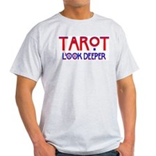 TAROT Look Deeper Ash Grey T-Shirt