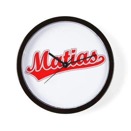 Retro Matias (Red) Wall Clock